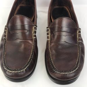 1443f7537ad12 Orvis Oiled Tanned Leather Loafer Moccasins 12D